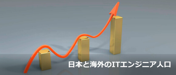 意外な事実が判明!日本国内と海外のITエンジニア人口の推移